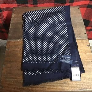 NWT Polo silk poka dot scarf